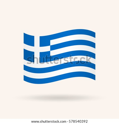 Flag of Greece. Vector illustration