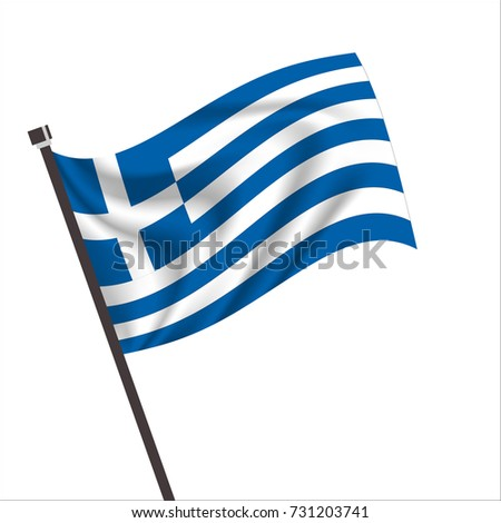 Flag of Greek. Greek Icon vector illustration,National flag for country of Greek isolated, banner vector illustration. Vector illustration eps10.