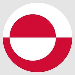 Flag of Greenland america vector illustration download eps