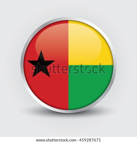 flag of guin bissau glossy