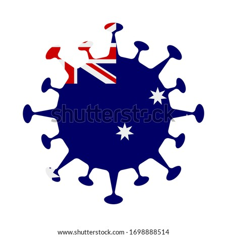 Flag of HIMI in virus shape. Country sign. Vector illustration. Сток-фото ©