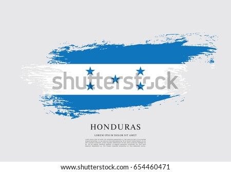 Flag of Honduras, brush stroke background
