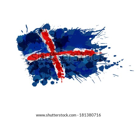 flag of iceland made of