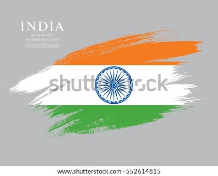 flag of india  brush stroke