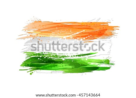 flag of india made with