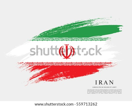 flag of iran  brush stroke