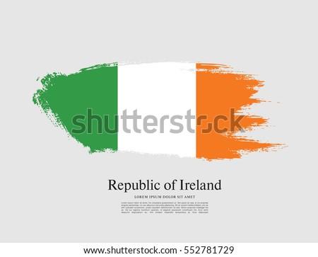 flag of ireland  brush stroke