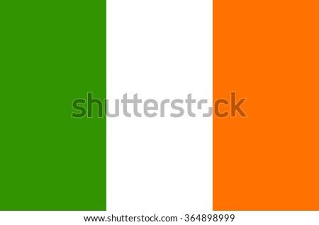 Flag of Ireland - vector Foto stock ©