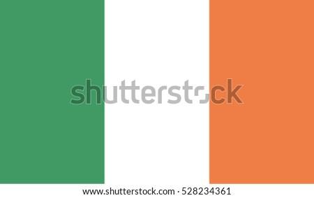 flag of ireland vector