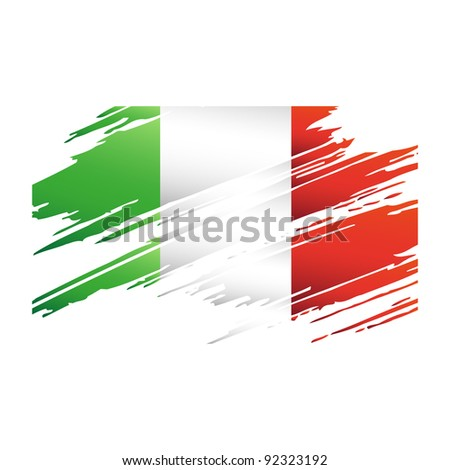 Flag of Italy in the form of an icon for a web of pages