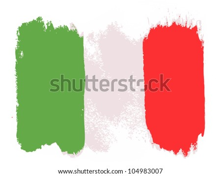 Flag of Italy, vector illustration
