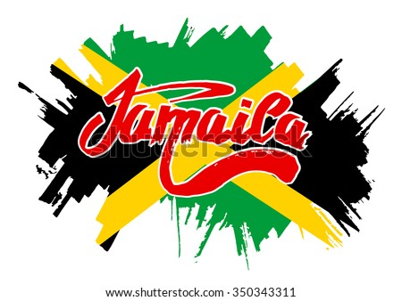 flag of jamaica flag in grungy