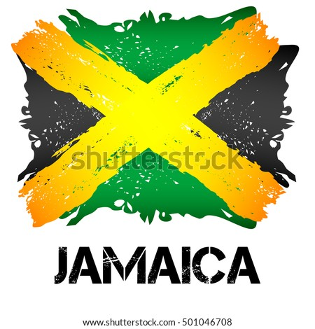 flag of jamaica from brush
