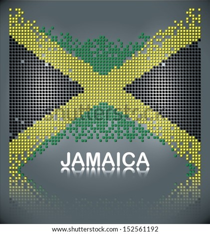 flag of jamaica from square
