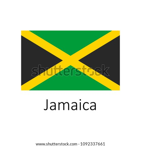 flag of jamaica with name icon