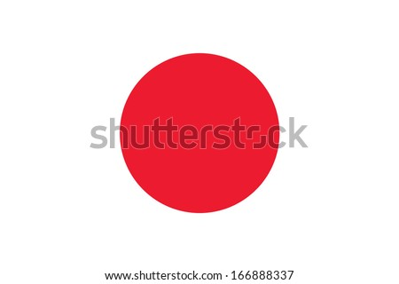 flag of japan vector accurate