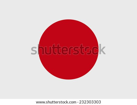 flag of japan vector
