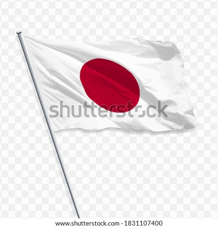 flag of japan with a