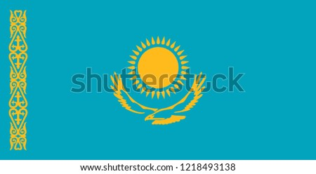 Flag of Kazakhstan vector, country flags, flags