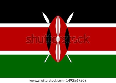 Flag of Kenya a vector illustration