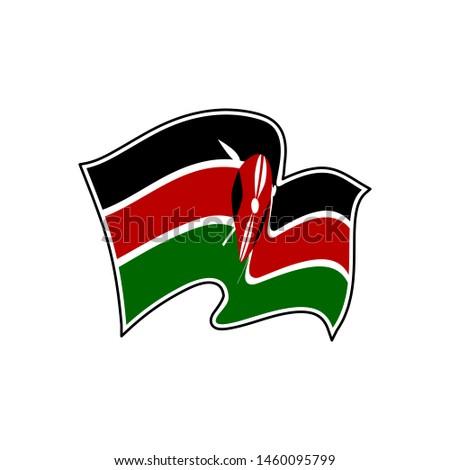 Flag of Kenya. Kenya vector flag. National symbol of Kenya