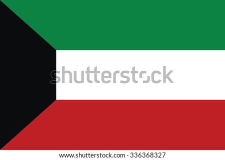 Flag of Kuwait. Vector illustration.