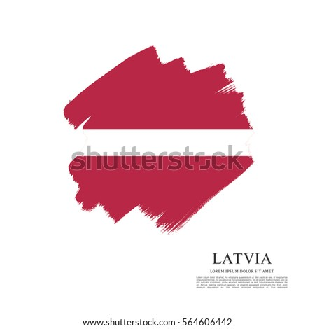 Flag of Latvia, brush stroke background #564606442