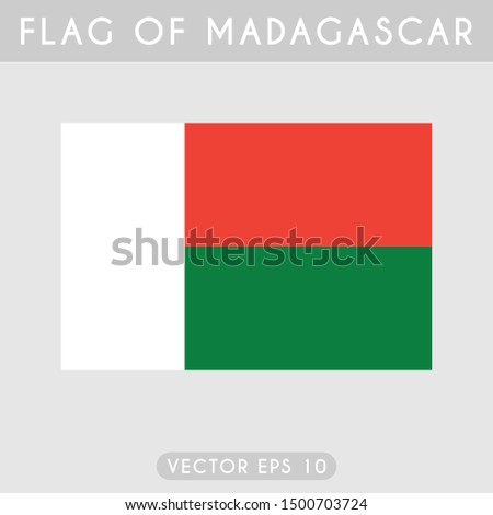 Flag of Madagascar, Madagascar flag template design. Vector eps 10