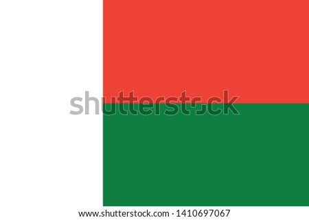 Flag of Madagascar vector illustration
