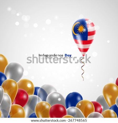 flag of malaysia on balloon