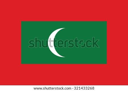 flag of maldives  national