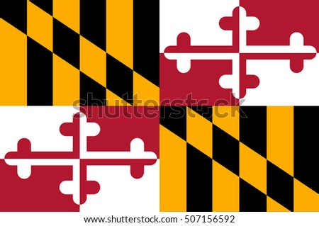Flag of Maryland, a state of United States. Vector illustration