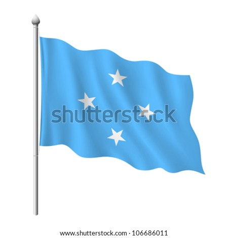 Flag of Micronesia, vector illustration - stock vector