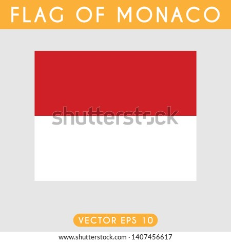 flag of monaco template design