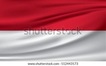 flag of monaco  vector...