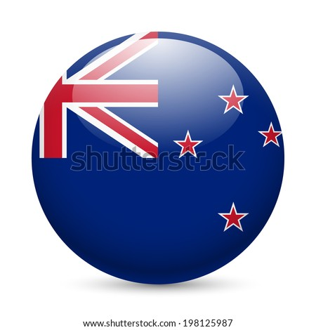 flag of new zealand as round