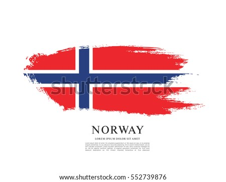 flag of norway  brush stroke