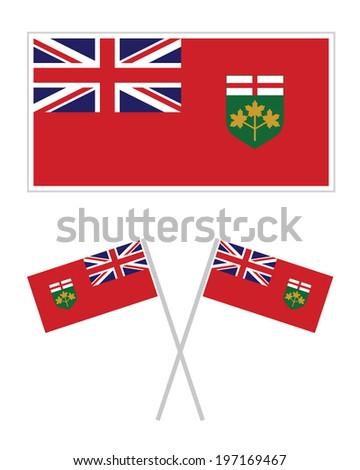 Flag of Ontario Canada - Vector Set