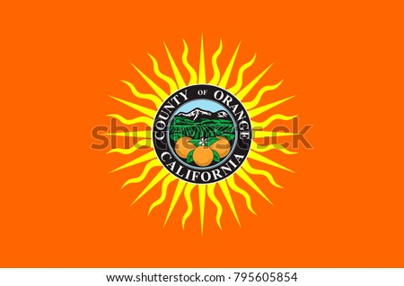 Flag of Orange County in California state, United States. Vector illustration