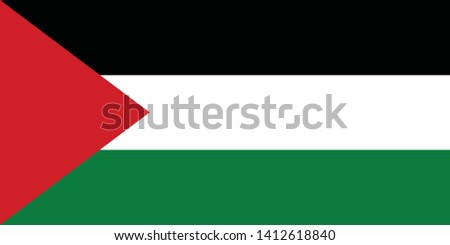 flag of palestine vector
