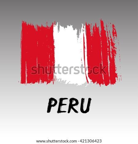 Flag Of Peru - Grunge