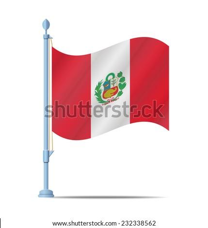 flag of peru vector illustration