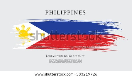 flag of philippines  brush