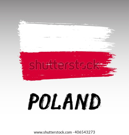 flag of poland   grunge
