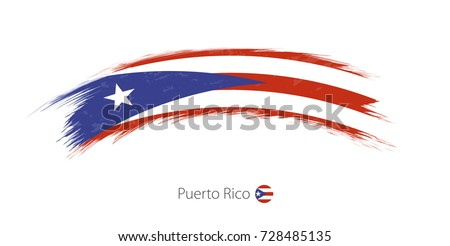 flag of puerto rico in rounded