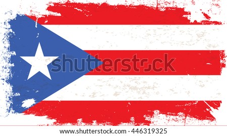 flag of puerto rico in the