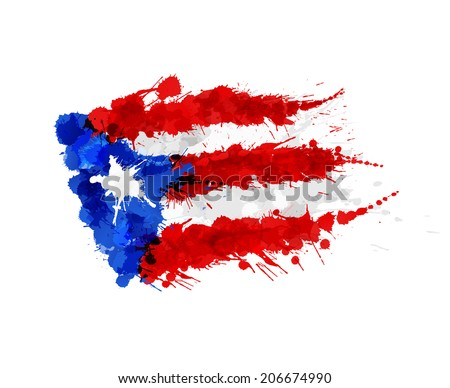 flag of  puerto rico made of