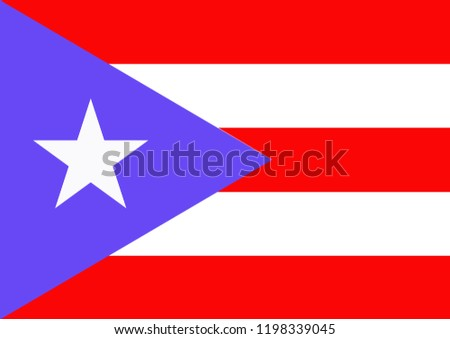 Flag of Puerto Rico or Puerto Rico of Country Flag design with illustration #1198339045