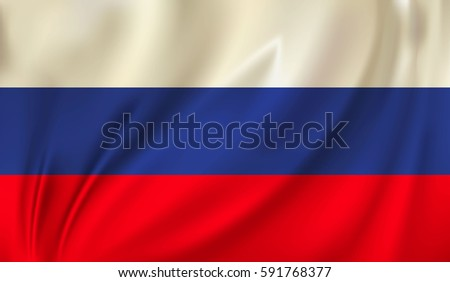 flag of russia waving in the