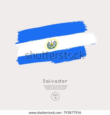 flag of salvador in grunge